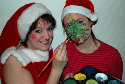 Paliette - Jule-ansigtsmaling